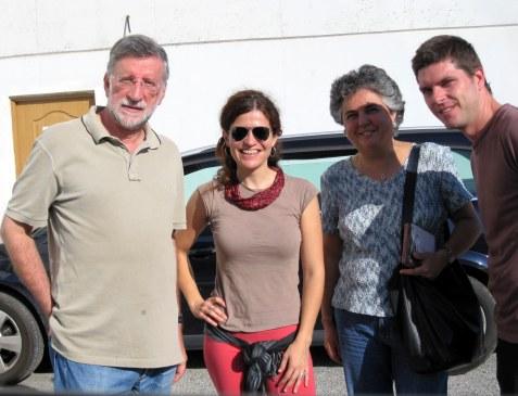 Con Jose Luis Loidi y Lourdes Yarza en Irún, después de ver instrumentos