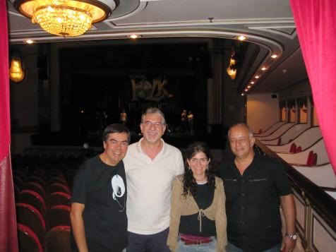 Jurado del concurso: con Alberto Jambrina, Carlos Monje y Manuel Bardera